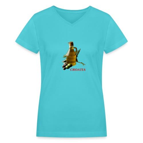 Croatian Gourmet 2 - Women's V-Neck T-Shirt