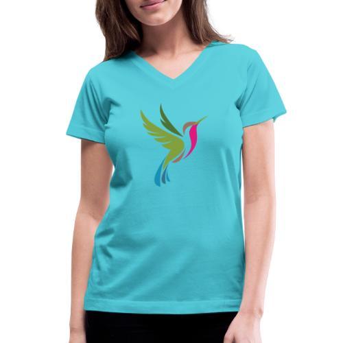 Hummingbird Spot Logo Products - Women's V-Neck T-Shirt