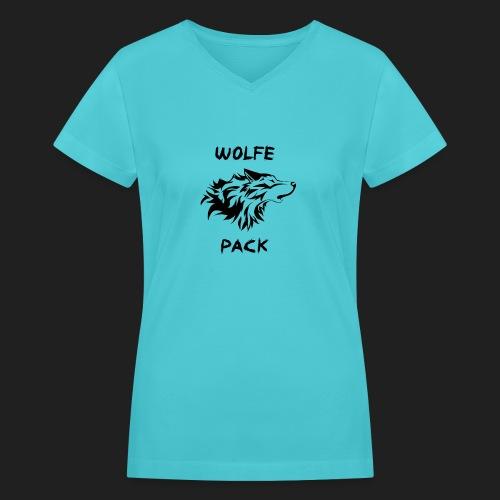 wolfepack6 png - Women's V-Neck T-Shirt