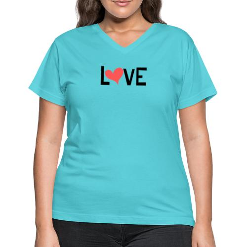 LOVE heart - Women's V-Neck T-Shirt