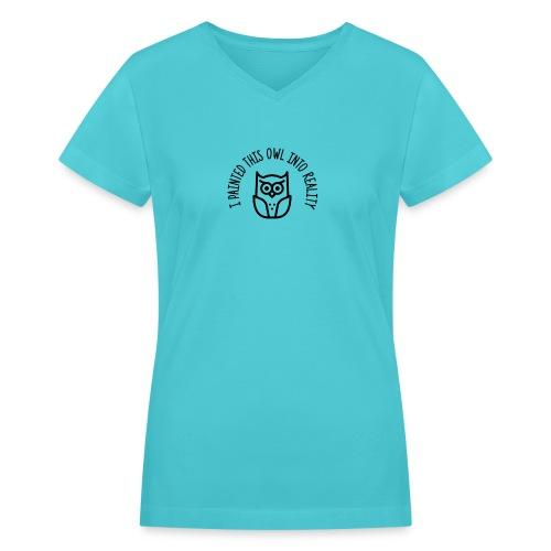 OWL - Women's V-Neck T-Shirt