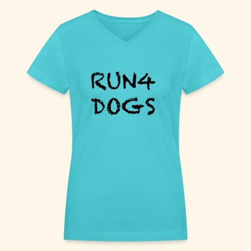 RUN4DOGS NAME - Women's V-Neck T-Shirt