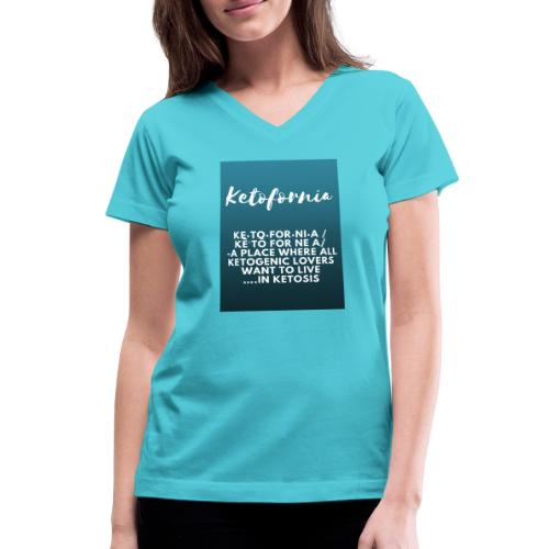 Ketofornia - Women's V-Neck T-Shirt