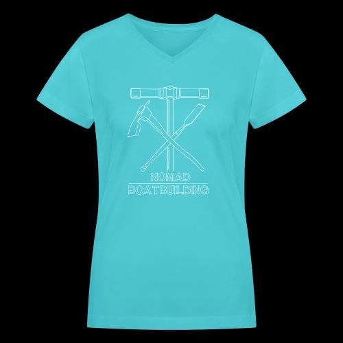 Nomad Shipwright graphic - Women's V-Neck T-Shirt