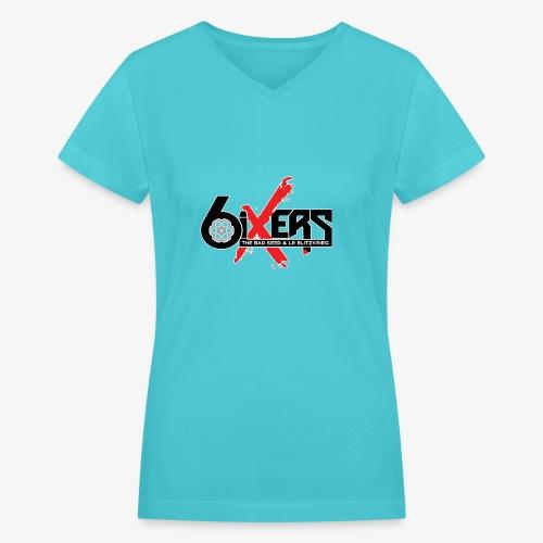6ixersLogo - Women's V-Neck T-Shirt