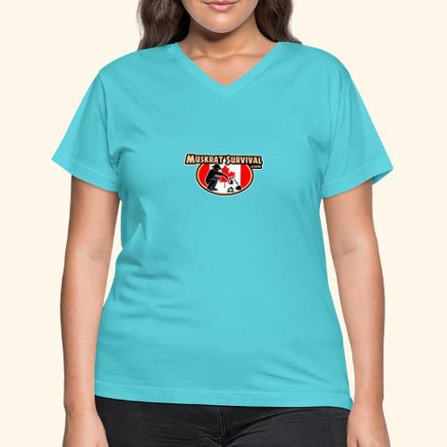 Muskrat Badge 2019 - Women's V-Neck T-Shirt