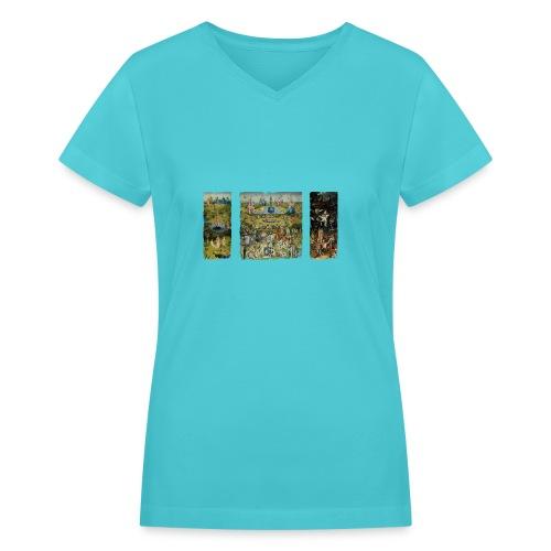 Garden Of Earthly Delights - Women's V-Neck T-Shirt
