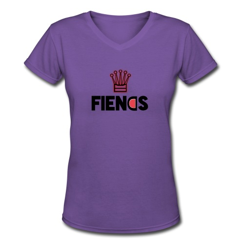 Fiends Design - Women's V-Neck T-Shirt