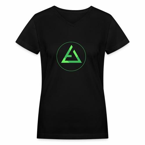 crypto logo branding - Women's V-Neck T-Shirt