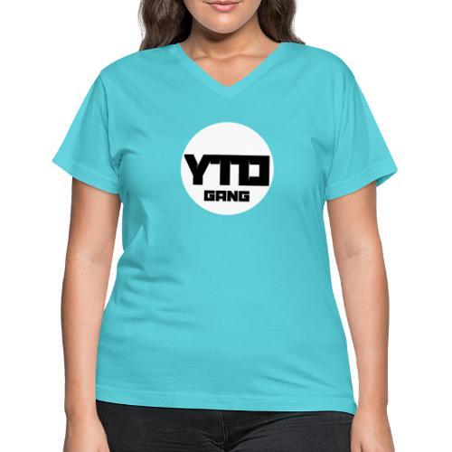 ytd logo - Women's V-Neck T-Shirt