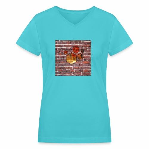 Wallart - Women's V-Neck T-Shirt