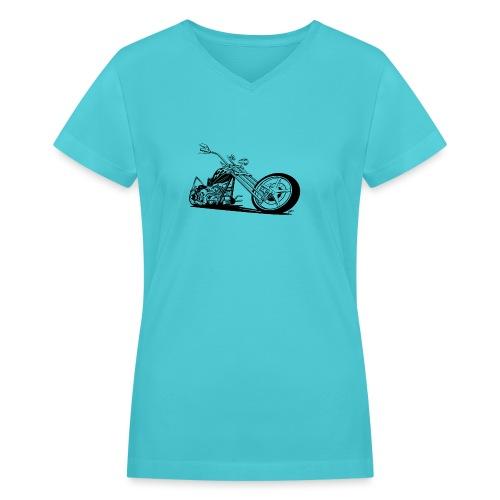 Custom American Chopper Motorcycle - Women's V-Neck T-Shirt