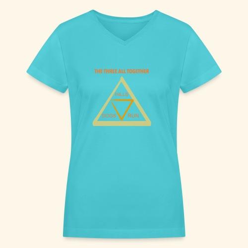Run4Dogs Triangle - Women's V-Neck T-Shirt