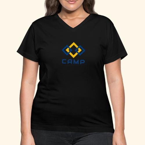 CAMP LOGO and products - Women's V-Neck T-Shirt