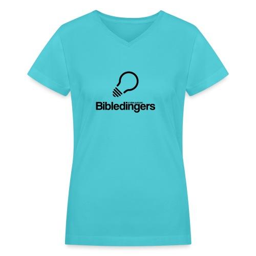 Black Logo - Women's V-Neck T-Shirt