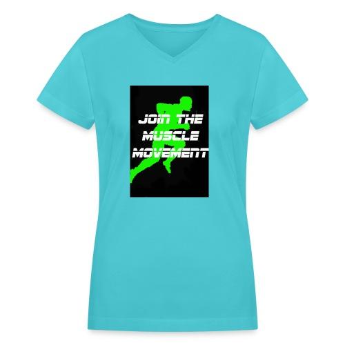 muscle movement - Women's V-Neck T-Shirt