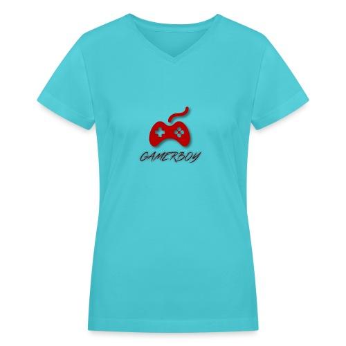 Gamerboy - Women's V-Neck T-Shirt