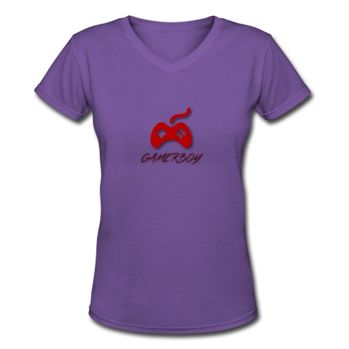 Gamerboy - Women's V-Neck T-Shirt