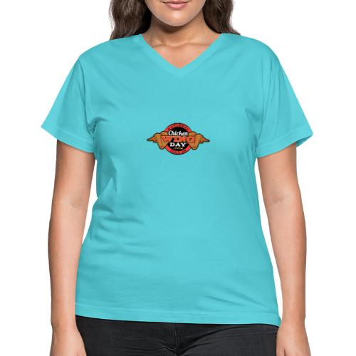 Chicken Wing Day - Women's V-Neck T-Shirt