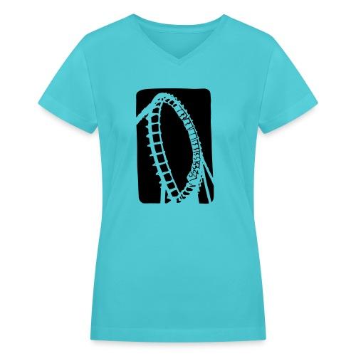 Roller Coaster - Women's V-Neck T-Shirt