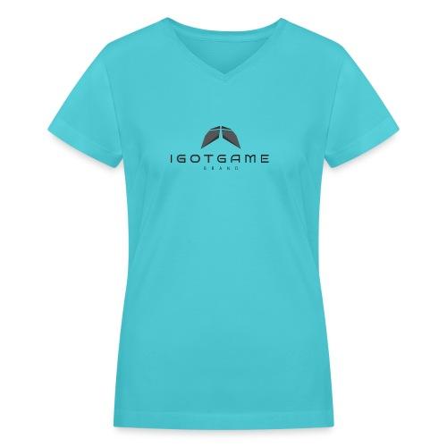 IGOTGAME ONE - Women's V-Neck T-Shirt