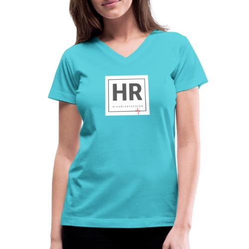 HR - HighRiskFashion Logo Shirt - Women's V-Neck T-Shirt
