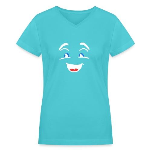 im happy - Women's V-Neck T-Shirt