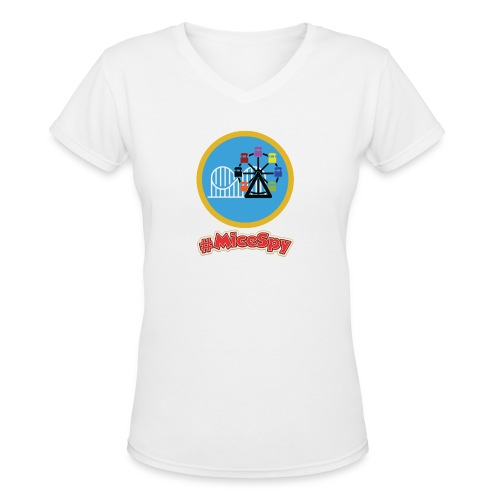 Paradise Pier Explorer Badge - Women's V-Neck T-Shirt