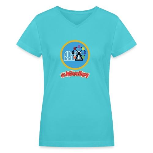 Paradise Pier Explorer Badge - Women's V-Neck T-Shirt