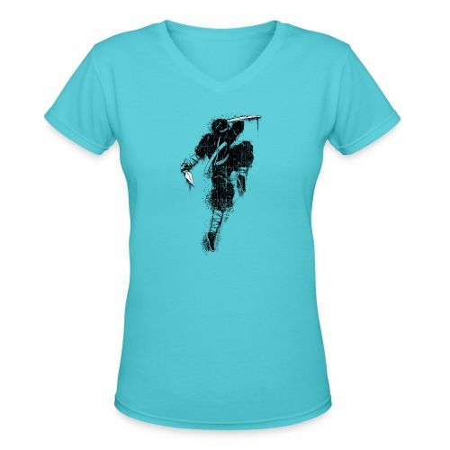 Ninja - Women's V-Neck T-Shirt