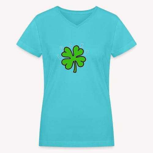 Lucky - Women's V-Neck T-Shirt
