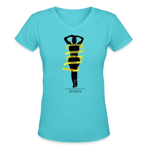 Measured By The Word - Women's V-Neck T-Shirt