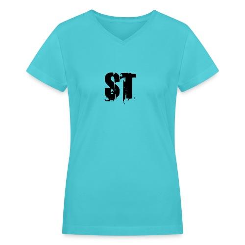 Simple Fresh Gear - Women's V-Neck T-Shirt