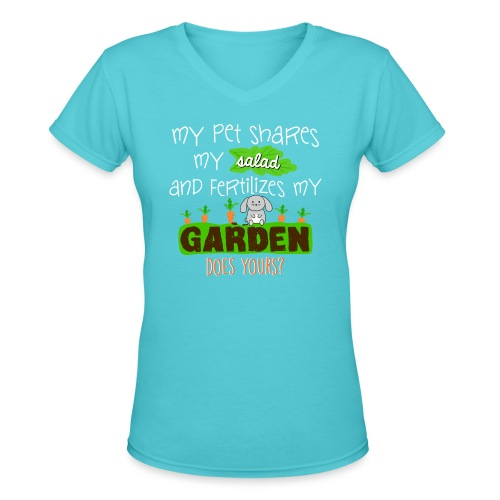 Bunny Benefits - Women's V-Neck T-Shirt