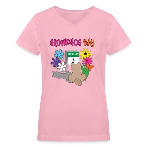 Groundhog Day Dilemma - Women's V-Neck T-Shirt