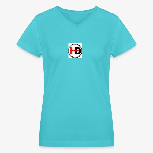 HDGaming - Women's V-Neck T-Shirt