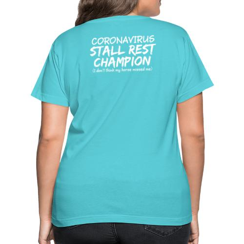 Stall Rest Champion - Women's V-Neck T-Shirt