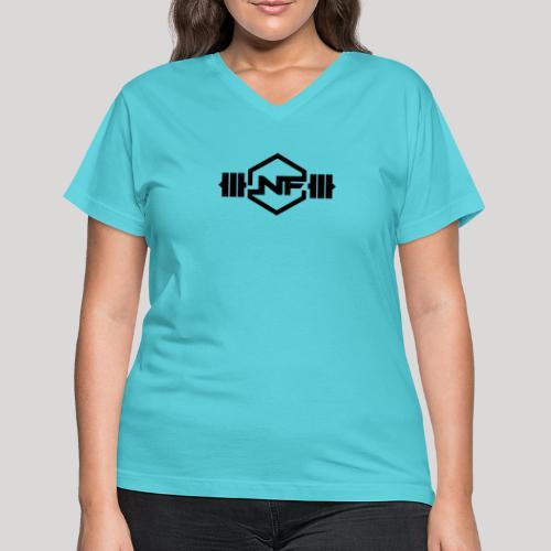Natural Fitness Gym Logo - Women's V-Neck T-Shirt