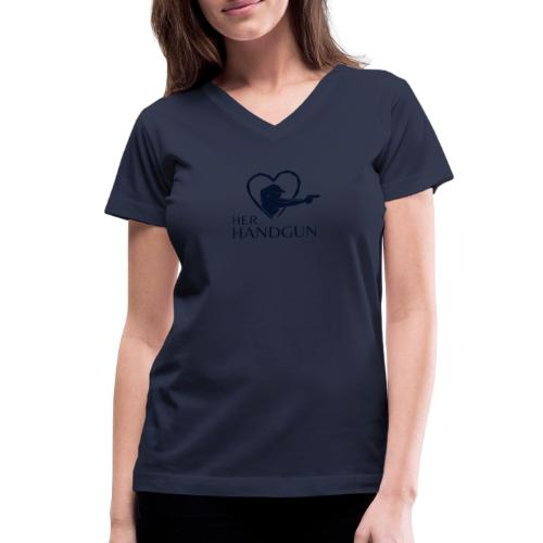 Official HerHandgun Logo - Women's V-Neck T-Shirt