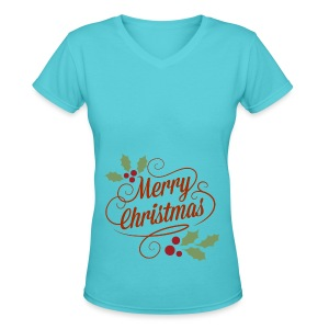 Merry Christmas - Women's V-Neck T-Shirt