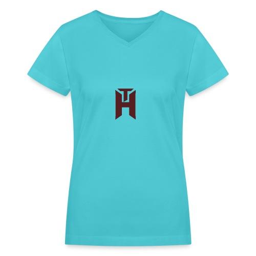 The Hybrids Logo - Women's V-Neck T-Shirt