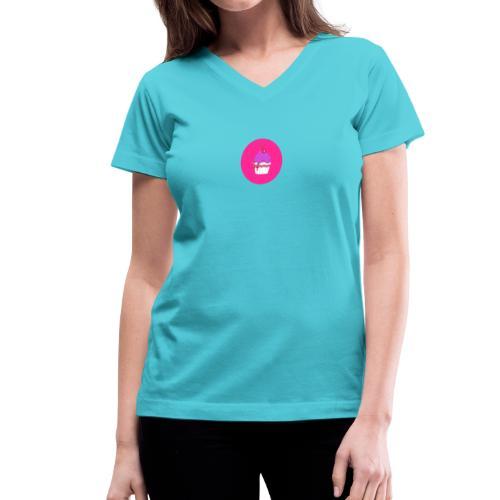 Doll Time Cupcake! - Women's V-Neck T-Shirt
