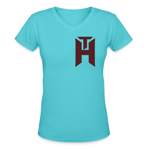 The Hybrids Logo - Women's V-Neck T-Shirt