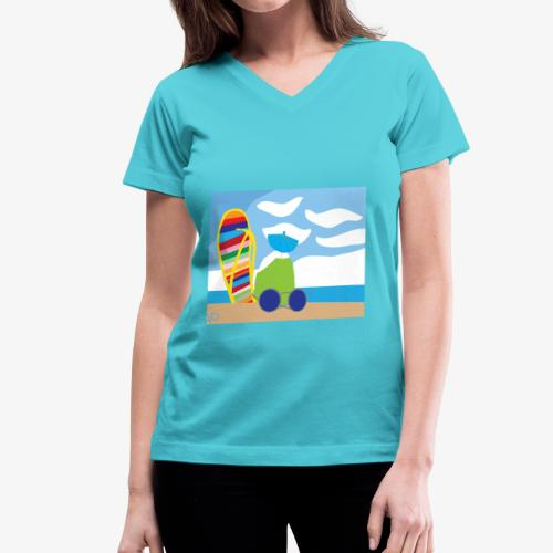 Fun in the Sand - Women's V-Neck T-Shirt