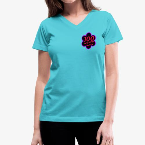 cv100 clipped rev 1 - Women's V-Neck T-Shirt