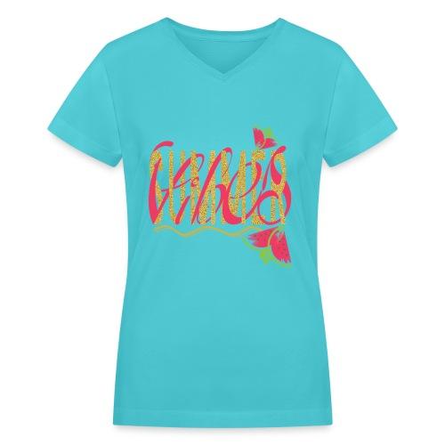 summervibes - Women's V-Neck T-Shirt