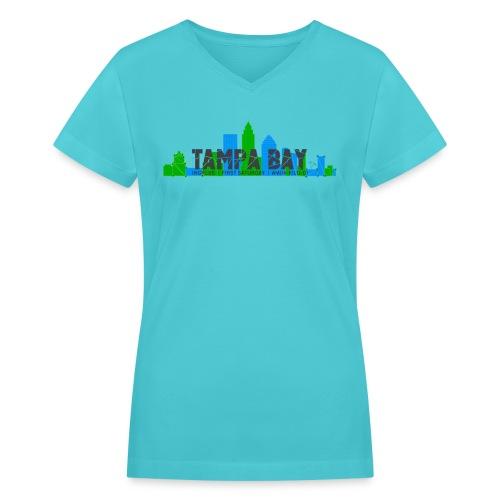 Tampa FS Dark - Women's V-Neck T-Shirt
