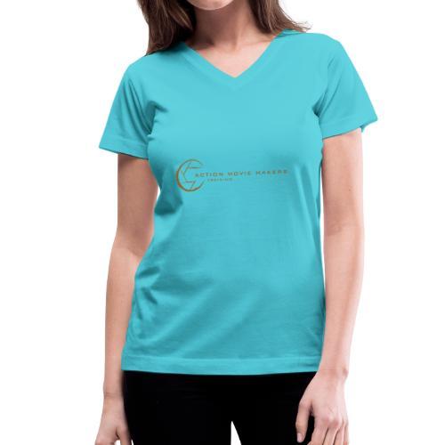 AMMT Logo Modern Look - Women's V-Neck T-Shirt