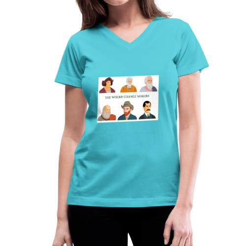 Change Makers - Women's V-Neck T-Shirt