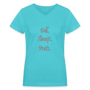 Woman's Everyday Puck Tee Shirt - Women's V-Neck T-Shirt